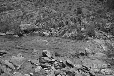 Monochrome Photograph - River Flow 5 by Angelo DeVal