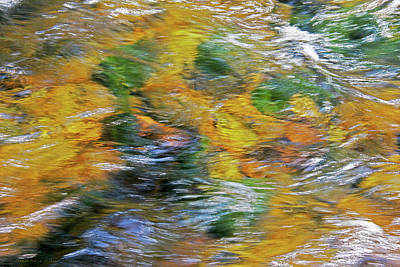 Photograph - River Flow Abstract Two by Jennie Marie Schell