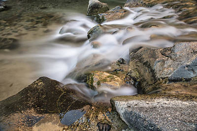 Photograph - River Flowing In Zion Near The Narrows by John McGraw