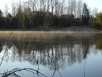 Photograph - River Fog Reflection In May by Kent Lorentzen