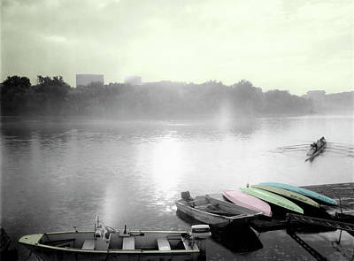Photograph - River Fog Sculls by Jan W Faul