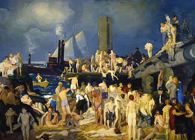 River Front Print by George Bellows