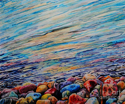 River Gems Art Print by Tracy Rose Moyers