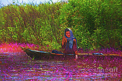 Photograph - River Girl 15418 by Ray Shrewsberry