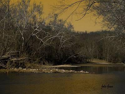 River Glow Art Print
