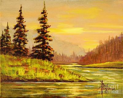 Terra Painting - River Glow by Paul Henderson