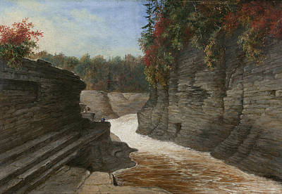 Painting - River Gorge, Autumn by Cornelius Krieghoff