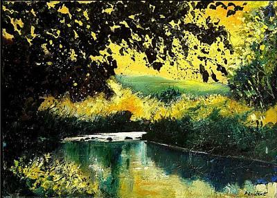 River Houille  Art Print by Pol Ledent