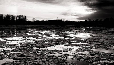 Photograph - River Ice At Dusk by John Williams