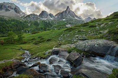 Photograph - River In The French Alps by Jon Glaser