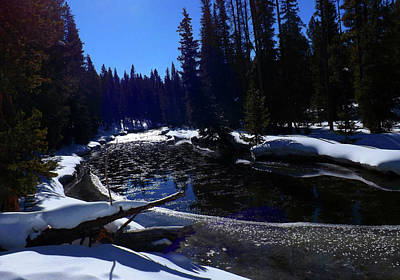 Photograph - River In Winter by C Sitton