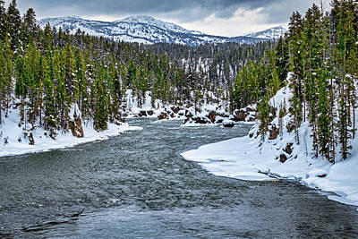 Photograph - River In Winter - Yellowstone by Stuart Litoff