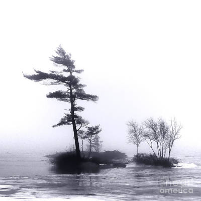 River Islands In Fog Art Print