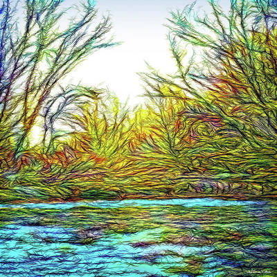 Digital Art - River Journey Sunrise by Joel Bruce Wallach