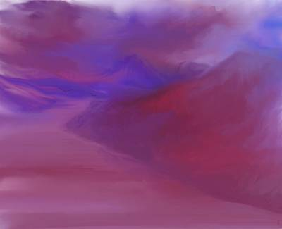 Digital Art - River Landscape 082310 by David Lane