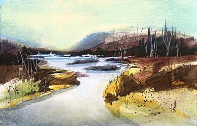 River Landscape 1 Art Print