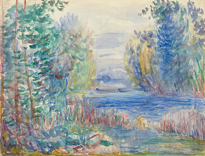 Painting - River Landscape by Auguste Renoir