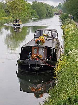 Photograph - River Life - Narrowboats On British Waterways by Gill Billington