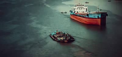 Daily Life Digital Art - River Life by Nasir Hossain