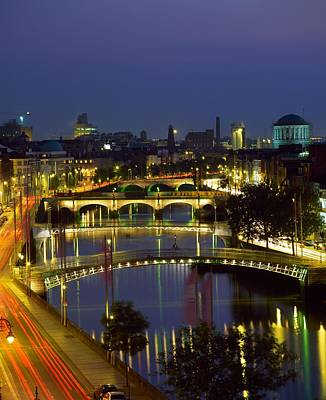 The Economy Photograph - River Liffey Bridges, Dublin, Ireland by The Irish Image Collection