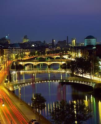 River Liffey Bridges, Dublin, Ireland Print by The Irish Image Collection