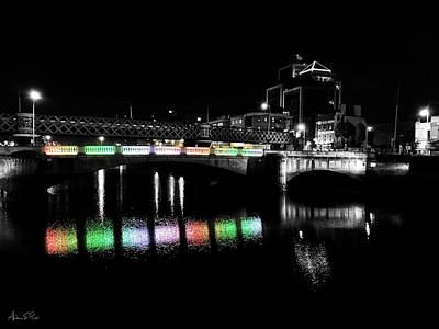 Photograph - River Liffey Reflections by Andrea Platt