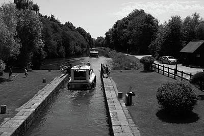 Photograph - River Locks Of France by Aidan Moran