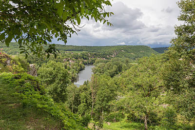 Photograph - River Lot At Saint Circ Lapopie In France by Semmick Photo