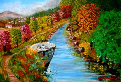 Painting - River Lousios  by Konstantinos Charalampopoulos