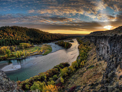 Snake River Photograph - River Magic by Leland D Howard