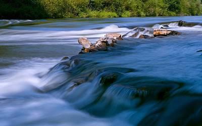 Landscape Digital Art - River by Maye Loeser