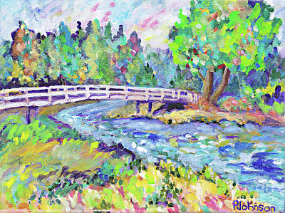 Painting - River Meditation By Peggy Johnson by Peggy Johnson