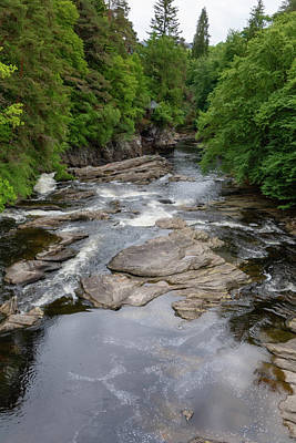 Photograph - River Moriston  0402 by Teresa Wilson