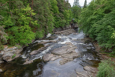 Photograph - River Moriston  0406 by Teresa Wilson