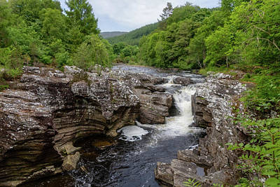 Photograph - River Moriston Falls 0413 by Teresa Wilson