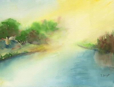 River Morning Art Print