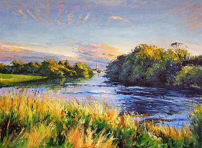 Ballina Painting - River Moy At Ballina by Conor McGuire
