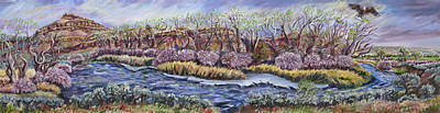Painting - River Mural Spring View by Dawn Senior-Trask