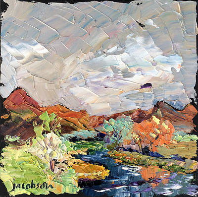 Painting - River Near Buffalo by Carrie Jacobson
