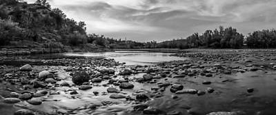 Arizona Photograph - River Night Black And White by Chuck Brown