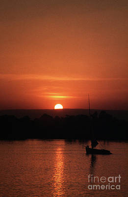 Photograph - River Nile Sunset by Rick Piper Photography
