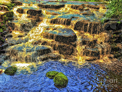 Photograph - River Of Gold by Leigh Kemp