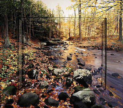 Connecticut Landscape Mixed Media - River Of Gold by Michael Albin