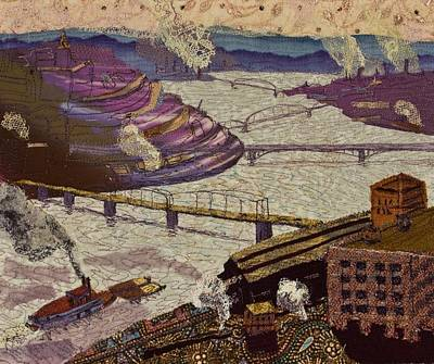 Tapestry - Textile - River Of Industry by Martha Ressler