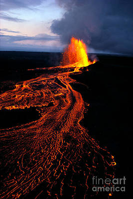 Photograph - River Of Lava by Joe Carini - Printscapes