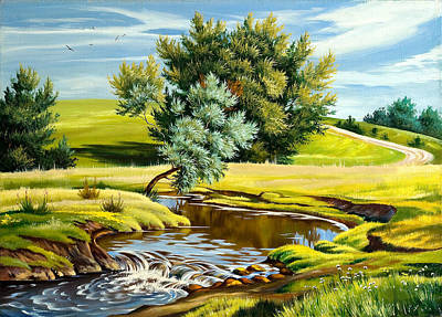 Karen Showell Painting - River Of Life by Karen Showell