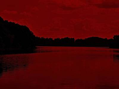 Photograph - River Of Red by Kyle J West