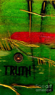 Mixed Media - River Of Truth by Angela L Walker