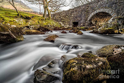 Conwy Photograph - River Ogwen Bridge by Adrian Evans