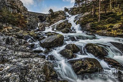 North Wales Digital Art - River Ogwen  by Chris Evans